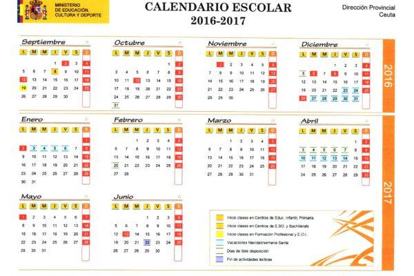 Calendario Escolar 2016-17-