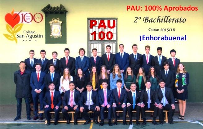 100% de aprobados en la PAU. ¡Enhorabuena!