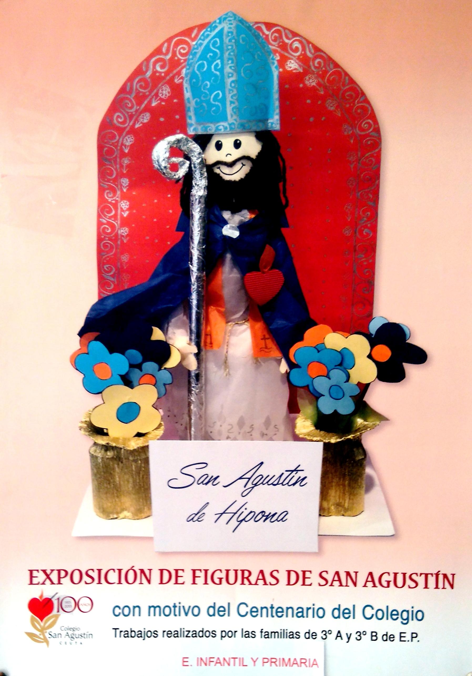 Exposición de figuras de san Agustín