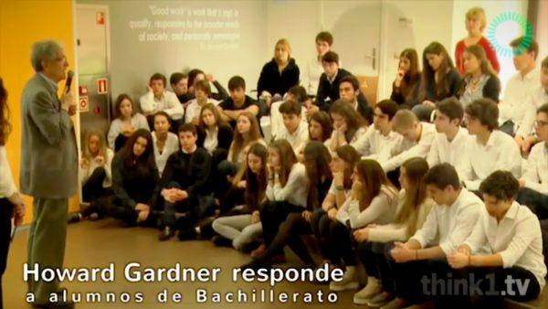 Howard Gardner responde a alumnos de Bachillerato