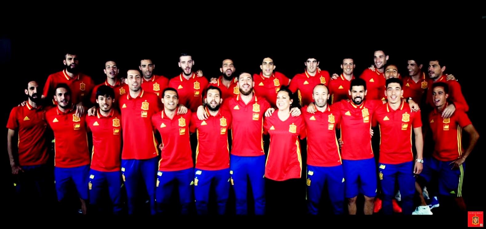 La Roja Baila (Himno Oficial de la Selección Española. Eurocopa'16)