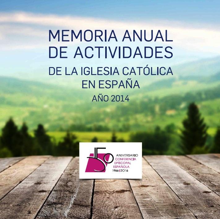 Memoria de actividades de la Iglesia Católica en España 2014