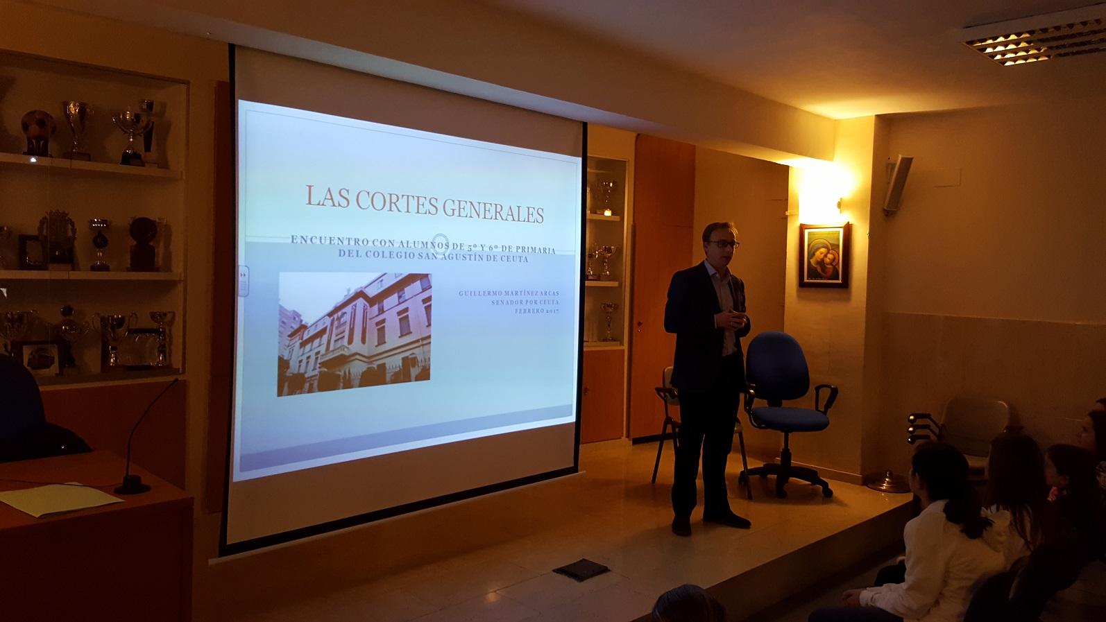 Nos Visita el Senador D. Guillermo Martínez.