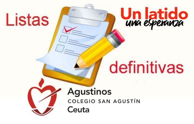 Listados Definitivos Escolarización Curso 2021-2022