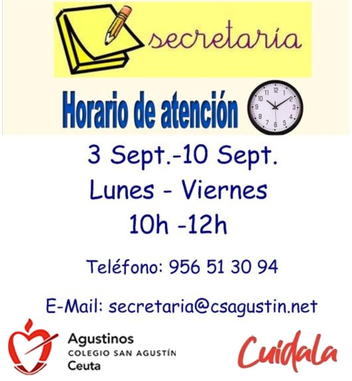 Horario Secretaría.
