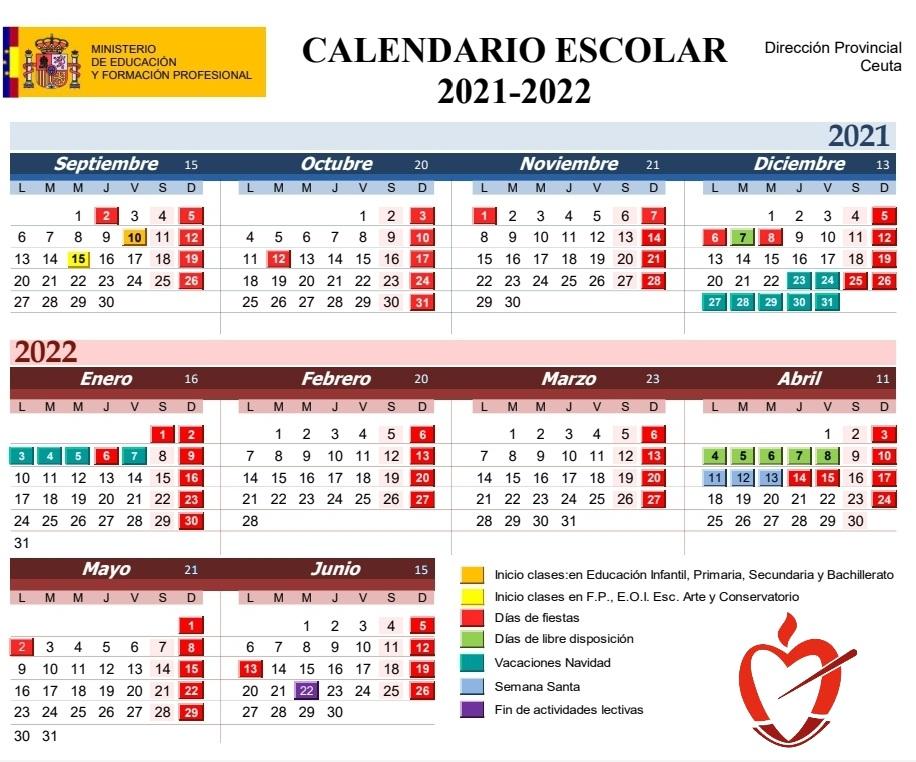 Calendarion Escolar 2021-2022